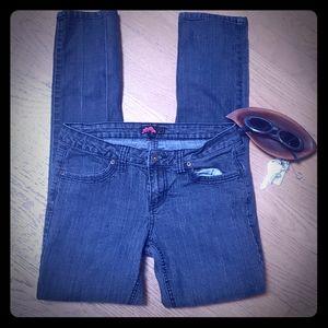 """Vintage 90s dark denim size 28 """"21"""" jeans"""